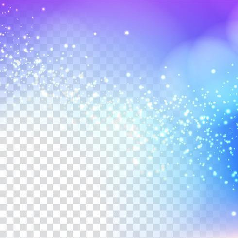 Diseño brillante con estilo abstracto del brillo en fondo transparente