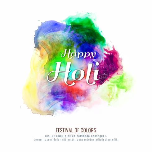 Illustrazione variopinta felice astratta della priorità bassa di vettore di festival di Holi