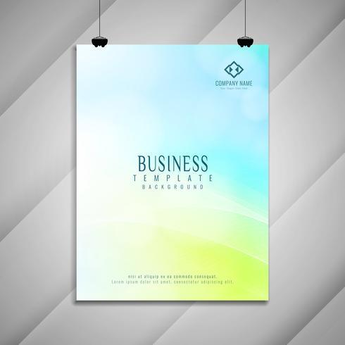 Abstrait coloré design de brochure d'affaires ondulées