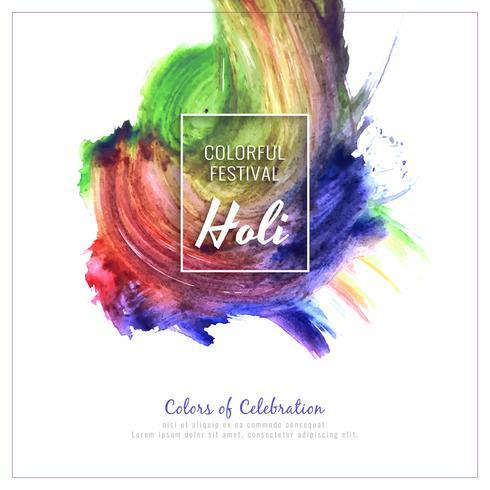 Résumé illustration de fond élégant festival coloré Holi heureux vecteur