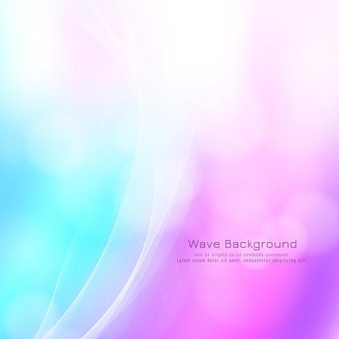 Fondo colorido de la onda del estilo elegante abstracto