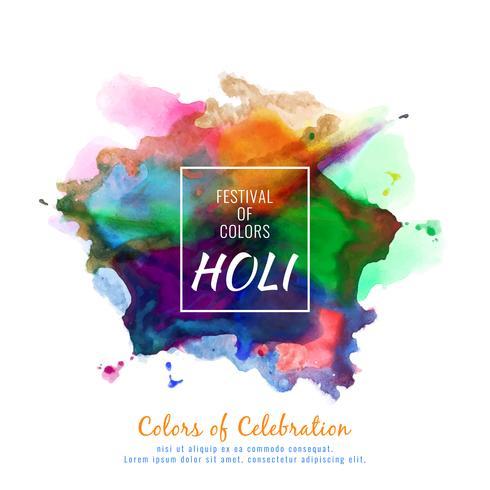Abstract Happy Holi illustration de fond fête colorée festival