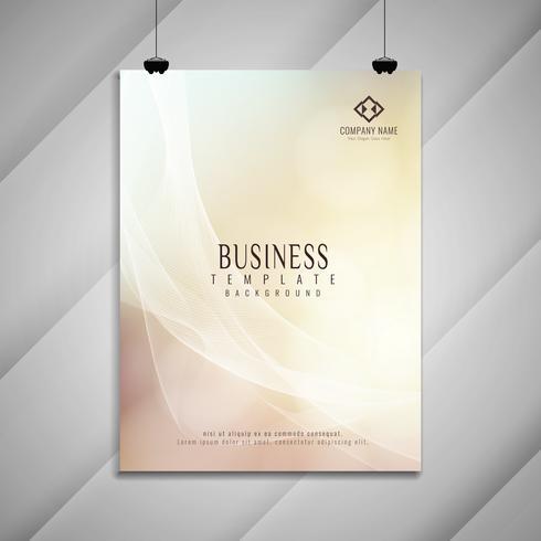 Abstraktes elegantes buntes gewelltes Geschäftsbroschürendesign