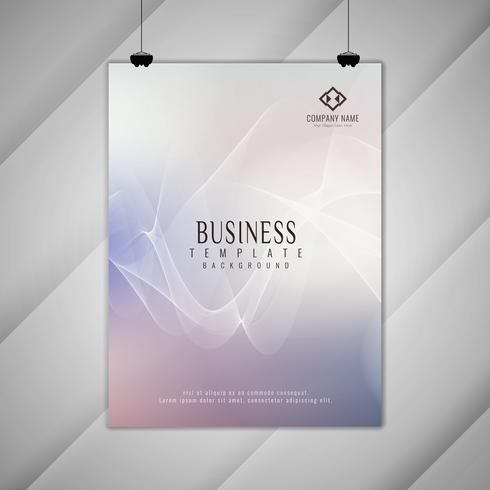 Disegno dell'opuscolo di business moderno colorato astratto ondulato
