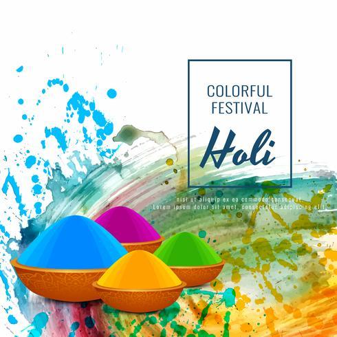 Résumé fond moderne festival religieux Holi vecteur