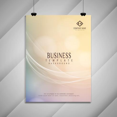 Stilvolles Design der abstrakten bunten gewellten Geschäftsbroschüre