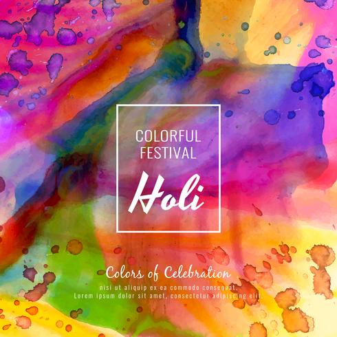 Abstract Happy Holi colorful festival stylish background illustration