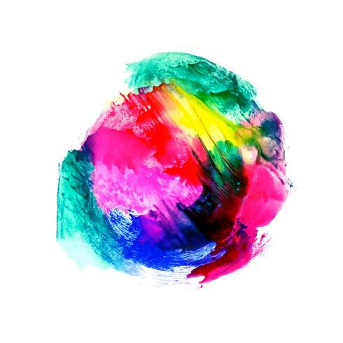 Fundo abstrato colorido respingo aquarela vetor