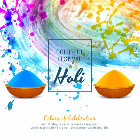 Fondo decorativo di festival religioso felice astratto di Holi