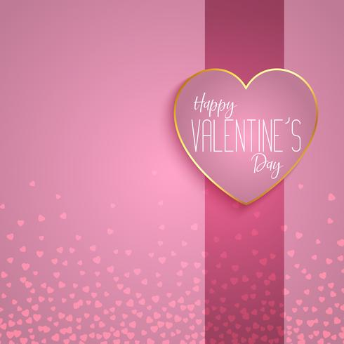 Fundo de dia dos namorados com design de coração