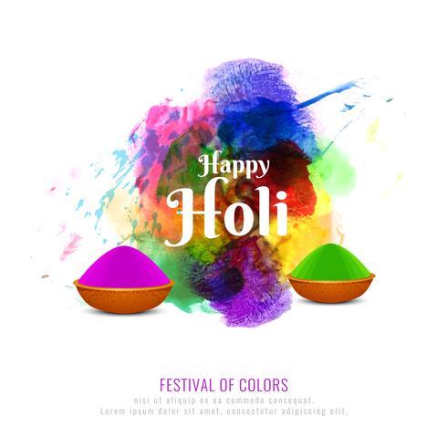 Diseño colorido abstracto feliz del fondo del festival de Holi