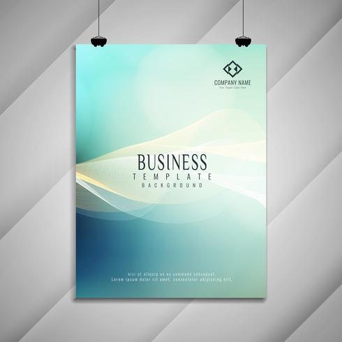 Resumen de negocios ondulado colorido diseño elegante folleto