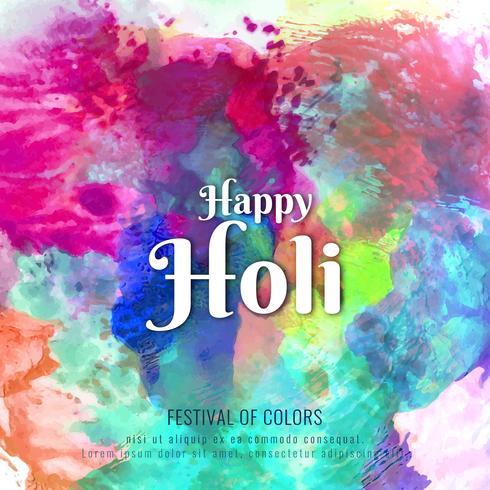 Abstrakte glückliche Holi bunte Festivalhintergrundillustration vektor