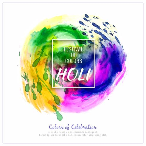 Abstract Happy Holi colorful festival decorative vector background