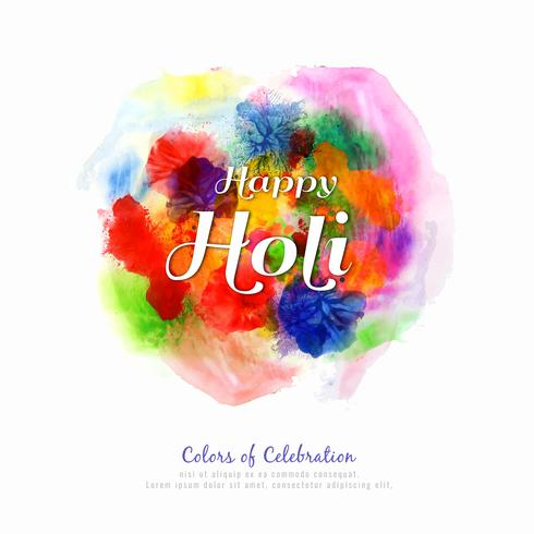 Ilustración de fondo elegante abstracto feliz Holi festival colorido
