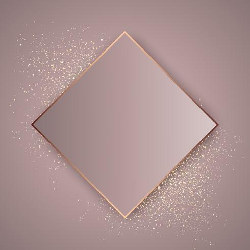 Fundo rosa glitter dourado