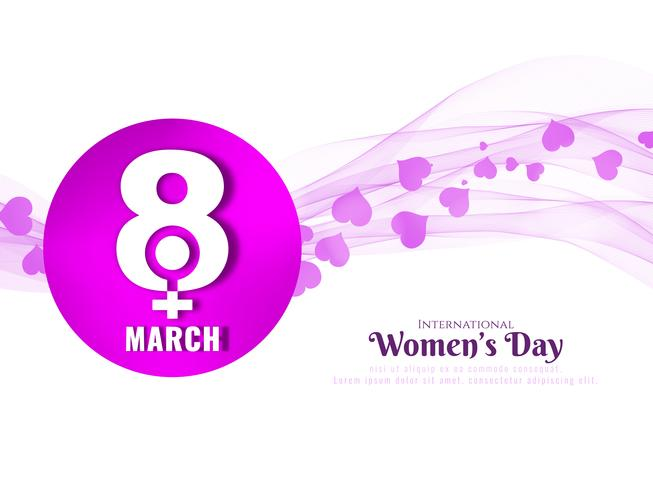 Abstract golvende de achtergrondontwerp van de Dag van Vrouwen
