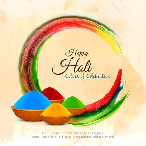Abstrait Happy Holi festival fond décoratif