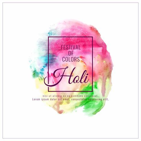 Abstrait Happy Holi design de fond décoratif festival coloré