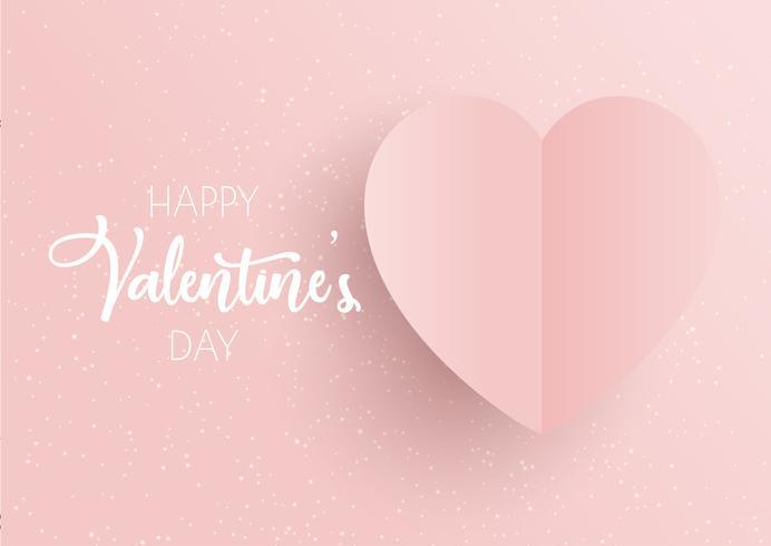 Fundo de dia dos namorados com coração rosa