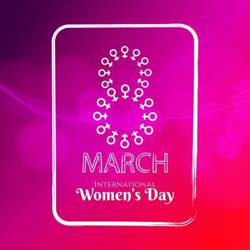 Abstract Women's day elegant background illustration