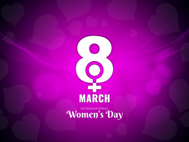 Abstract modern Women's day background design