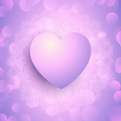 Fondo decorativo de San Valentín con diseño de corazón 0901.
