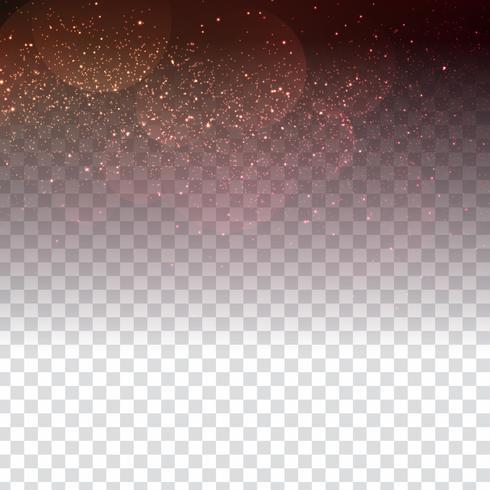 Abstrait design élégant scintillant sur fond transparent