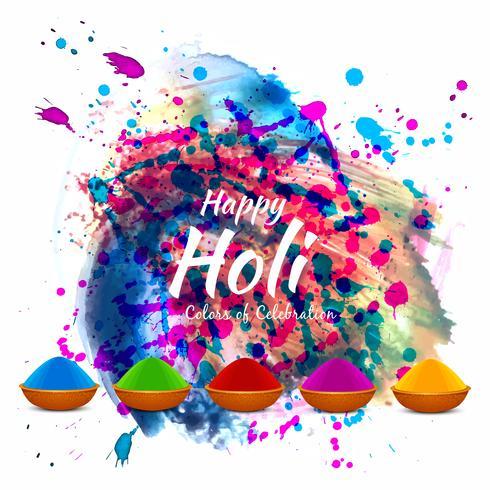 Résumé fond coloré festival religieux Holi
