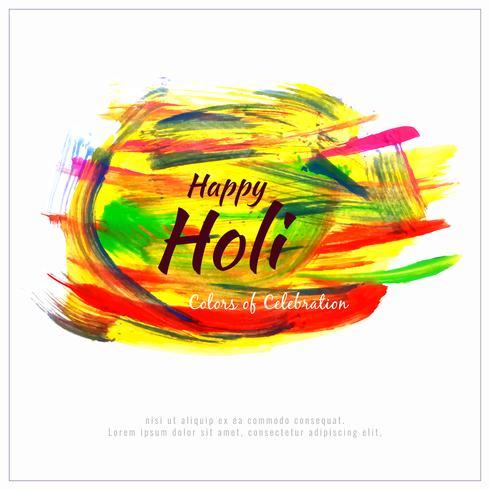 Abstracte Gelukkige kleurrijke het festival van Holi modieuze illustratie als achtergrond