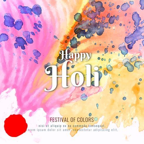 Abstrakte glückliche Holi bunte Festivalfeier-Hintergrundillustration vektor