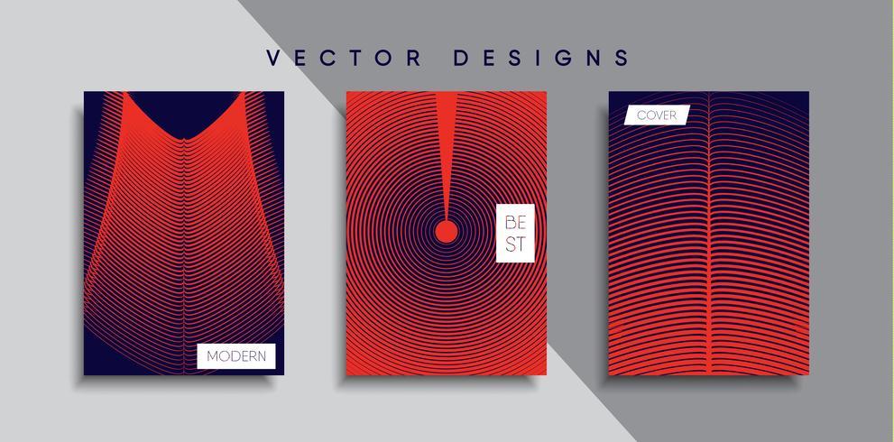 Minimale vectoromslagontwerpen. Toekomstige postersjabloon vector