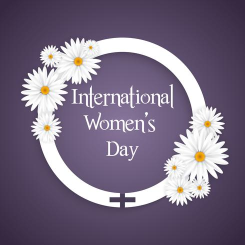Internationaler Frauentag Blumenhintergrund