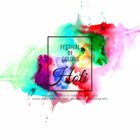 Abstracte Gelukkige Holi kleurrijke festival vectorillustratie als achtergrond vector
