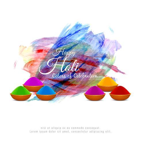 Abstracte gelukkige Holi kleurrijke achtergrond vector