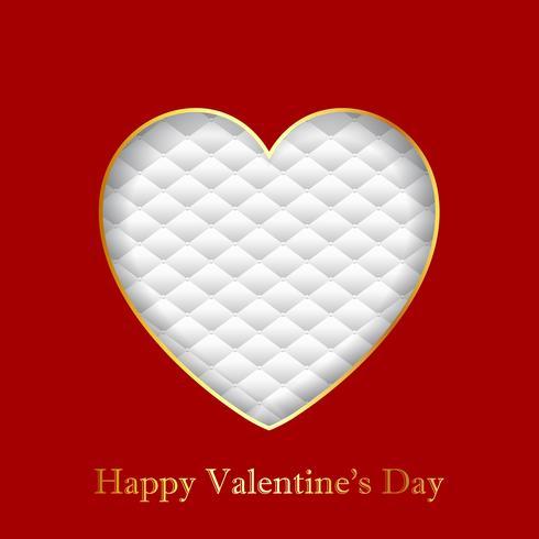 Fond de Saint Valentin avec coeur sur la texture de luxe