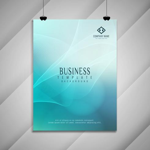 Abstract colorful wavy business brochure design
