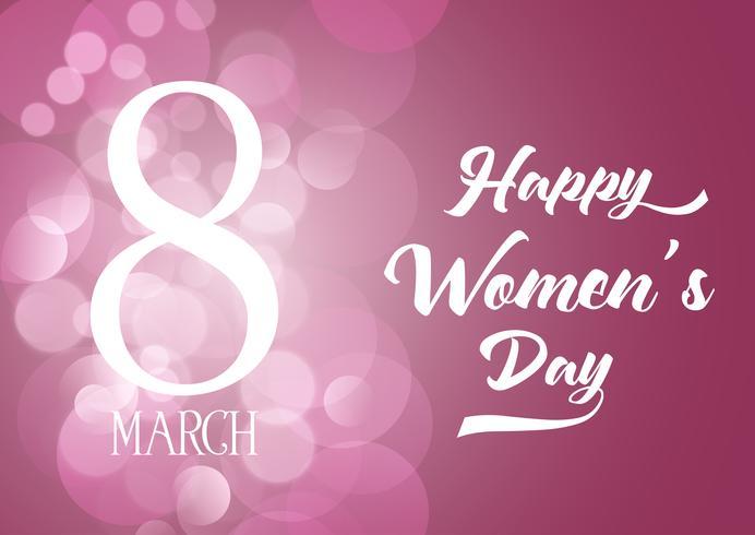 Internationale Vrouwendag achtergrond met bokeh lichten vector