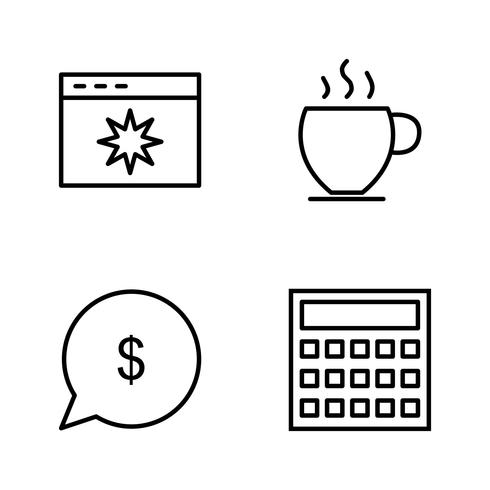 Vector Seo-pictogrammen