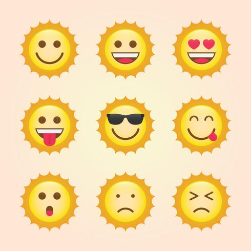 Emoticon Sun Themensammlung