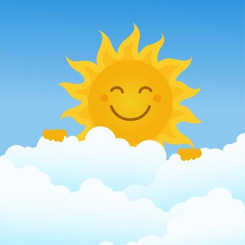 Sun Clipart Set Ilustração Vetorial
