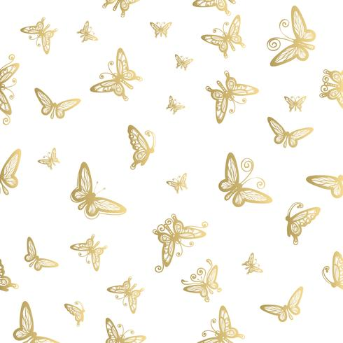 Seamless pattern of butterfly on white backgrounds