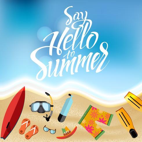 Set di oggetti per le vacanze estive vettore
