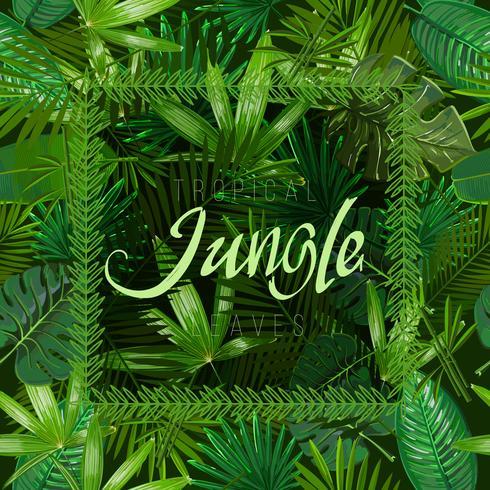Vector de patrones sin fisuras con hojas tropicales