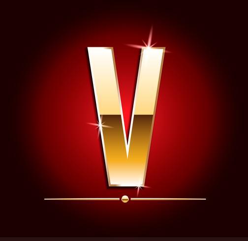 Lettres de vecteurs effet doré de haute qualité. Illustration vectorielle