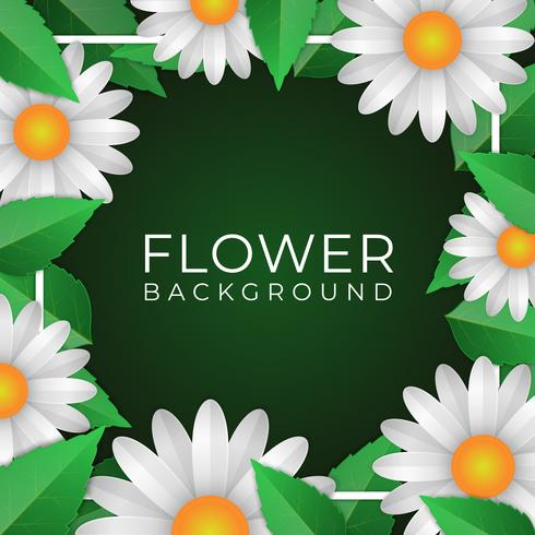 Fundo de primavera moderna com lindas flores vetor