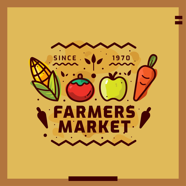 Farmers market vector illustration - Download Free Vectors ...