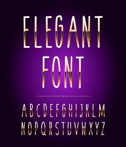 High quality gold-effect vector letters. Vector illustration