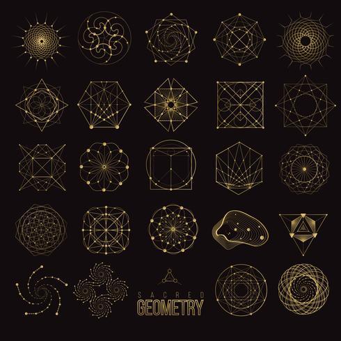Formes géométriques sacrées vecteur