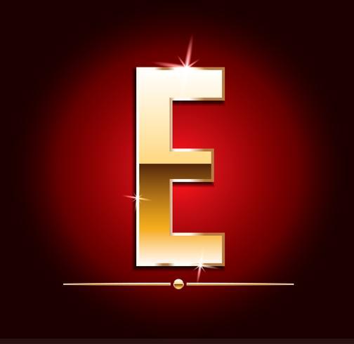 Hochwertige Gold-Effekt-Vektor-Buchstaben. Vektor-Illustration